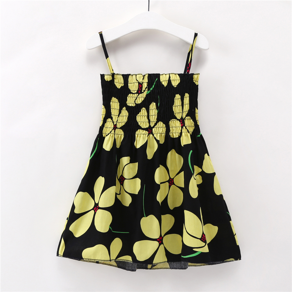 HTB1HTJojAUmBKNjSZFOq6yb2XXaz Kids Dresses for Girls Summer Girl Sleeveless Dress Toddler Flower Print Princess Dress 1 2 3 4 5 6 7 Years Children's Clothing