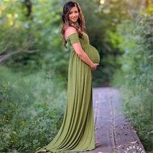 98f285d62 Nuevo 2018 vestido de maternidad estilo bohemio verano fotografía  accesorios vestidos fuera del hombro vestido de