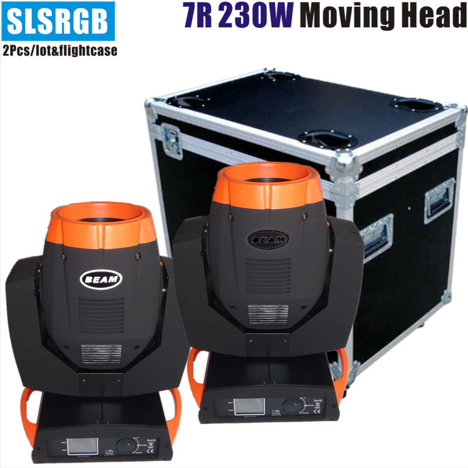 2pcs/lot&flight case Double prism 7R moving head rainbow beam light 230w stage lighting with after-sale service double prism