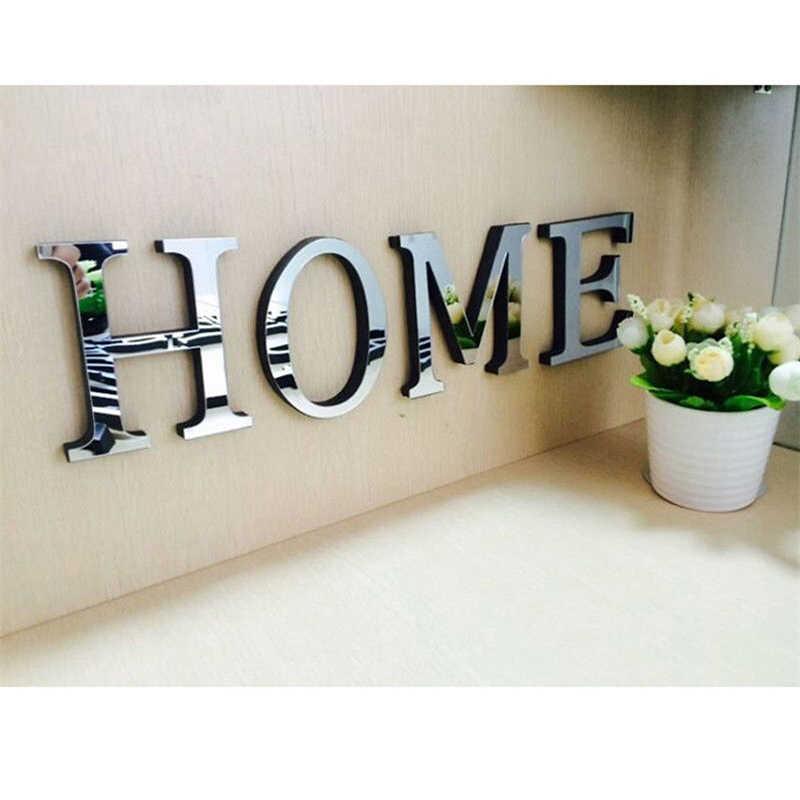 3D DIY Wand Aufkleber Acryl Spiegel Wand Aufkleber Alphabet Englisch letters Home Dekoration Kreative Persönlichkeit Spezielle Decor