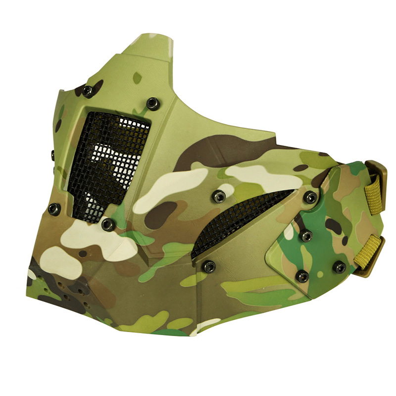 Helmet Vision Half Face Tactical Mask For Fast Connector ARC Rail Metal Mesh CP Protective CS Game Paintball Accessory Military