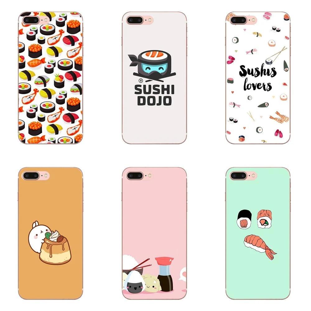 Coque de téléphone Apple souple, étui de Cuisine japonaise, Sushi, nourriture, pour iPhone 4 4s 5 5C 5s SE 6 6S 7 8 Plus X XS Max XR