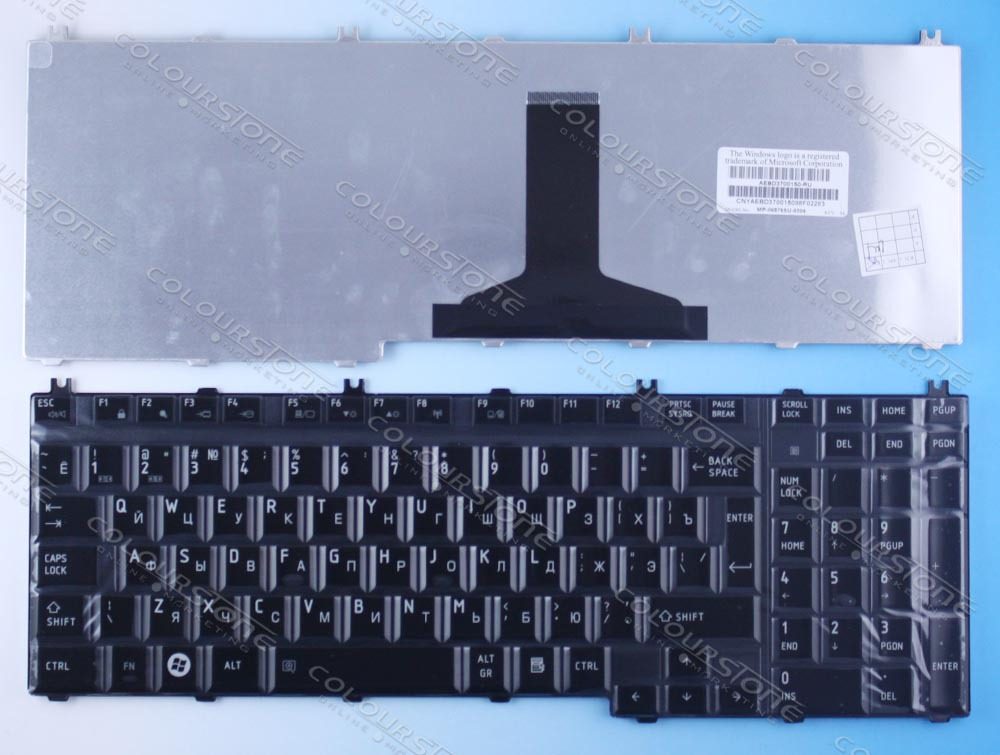 New RUSSIA RU Glossy Black Laptop keyboard for <font><b>TOSHIBA</b></font> Satellite A500 P200 P300 <font><b>L500</b></font> X500 X300 Glossy Black Laptop Keyboard image