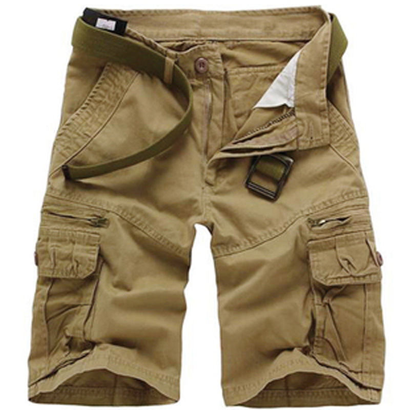 High Quality Men's Camouflage Cargo Shorts 100% Cotton Mens Casual Loose Shorts Men's Army Short Pants Bermuda Masculina