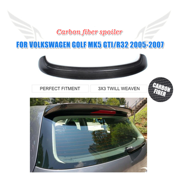 Carbon Fiber Black Auto Car Trunk Spoiler Wing Fit For Volkswagen VW Golf 5 V MK5 GTI R32 2005-2007 2007 bmw x5 spoiler