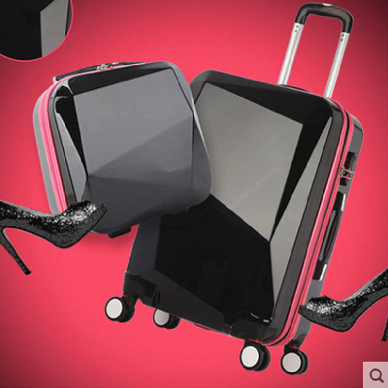 Trolley Case-24//26 Inch Aluminum Frame Universal Wheel Trolley Case Student Large Capacity Luggage Solid Color Password Suitcase Business Travel Check Box 5 Color Optional