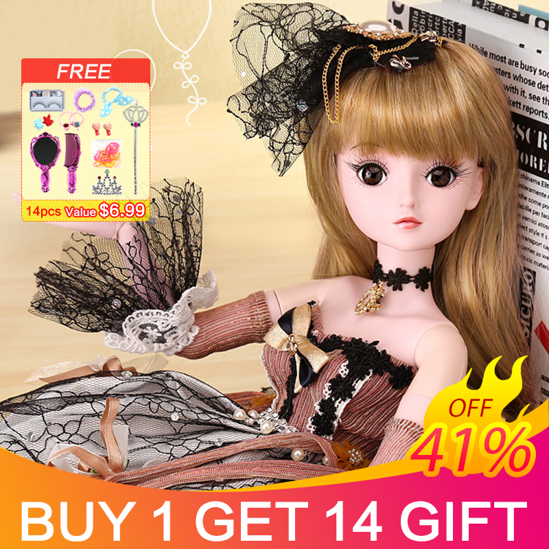 UCanaan 19 Ball Joints Doll with Clothes Outfit Shoes Wig Hair Makeup 23 6 BJD SD