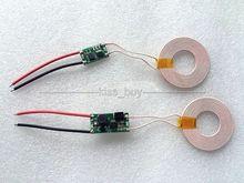 Módulo transmisor de carga inalámbrica dc 12V, 5V, 2A, bobina de fuente de alimentación para teléfono móvil DIY, módulo transmisor + módulo receptor