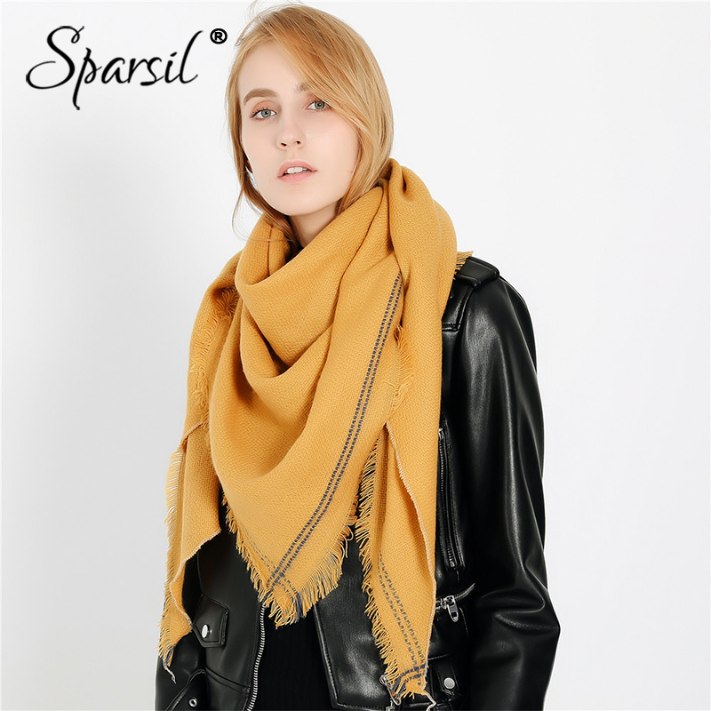 Sparsil New Women Spring Short Tassel Cotton Scarf Solid Color Fashion Viscose Long Wrap Summer 2019 Blanket Shawl For Ladies
