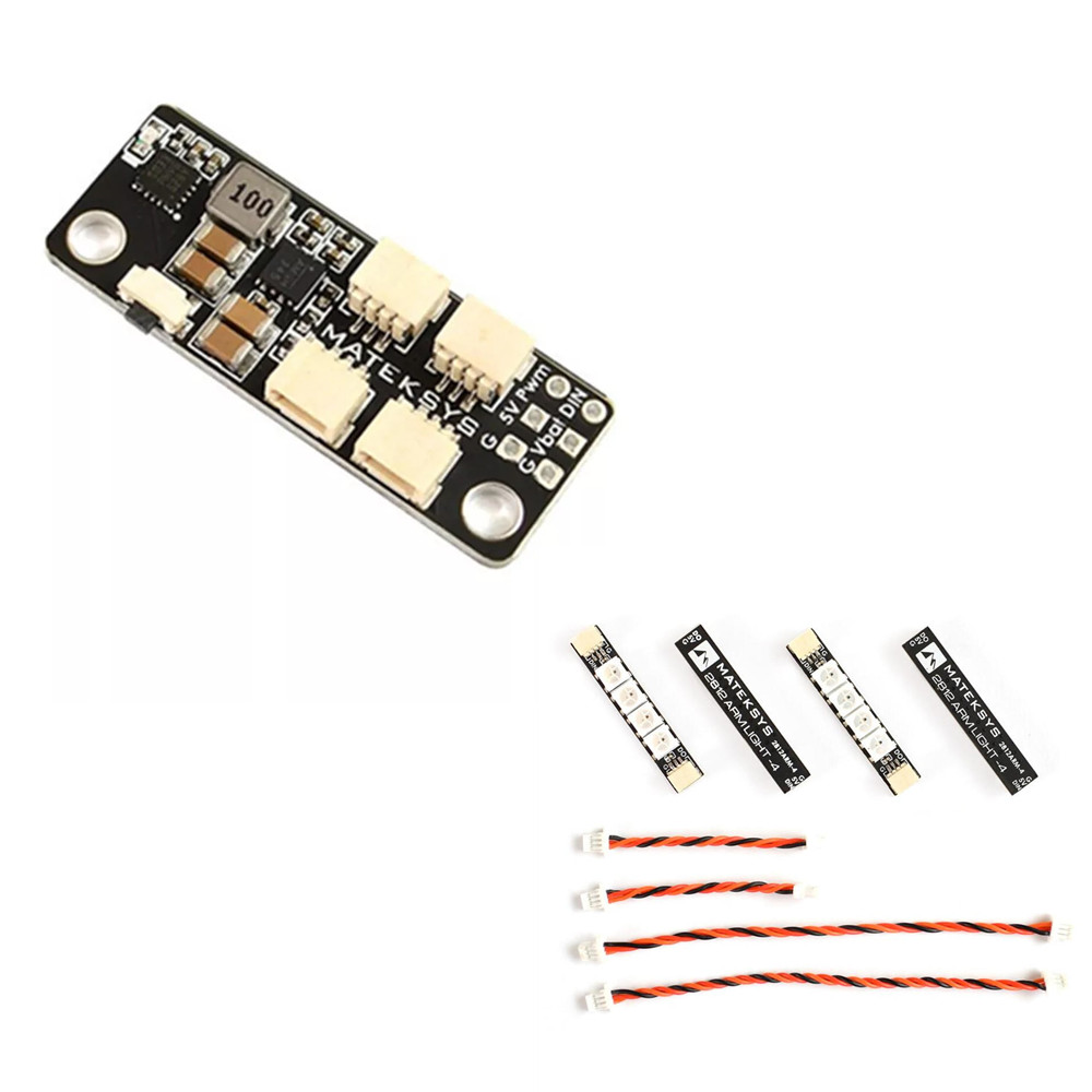 Matek System 2812 LED de contrôle 2-6S LED Module de contrôle avec 5V BEC/2812 LED de contrôle & 2812ARM-4 lumière 2812ARM-6 lumière LED