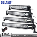 "Oslamp 3-роу 22 ""270 Вт 32"" 405 Вт 42 ""648 Вт 52"" 783 Вт Обломоки CREE LED Light Bar Offroad Спот Наводнение Combo Луча Света Работы Сид DC12v 24 В"