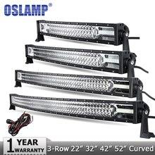 Oslamp 3-Row 22″ 270W 32″ 405W 42″ 648W 52″ 783W CREE Chips LED Light Bar Offroad Spot Flood Combo Beam Led Work Light DC12v 24v