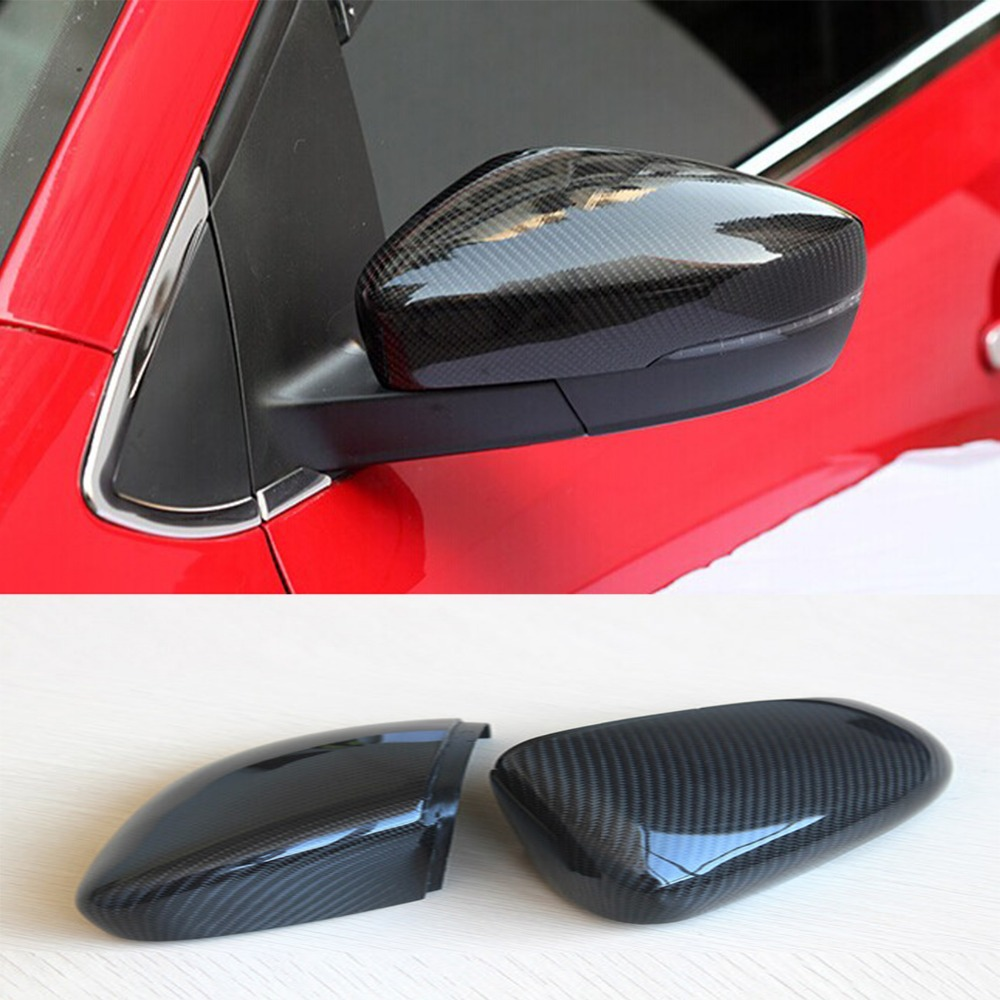 Golf 6 GTI Carbon Fiber Replace Car accessories Rear Mirror cap cover trim for Volkswagen