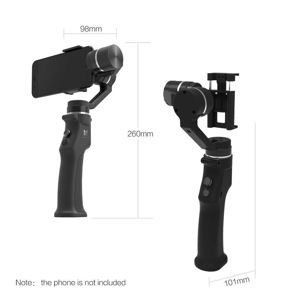 Aliexpresscom Clear Inventoy Feiyu Fy Spg 3 Axis Handheld Gimbal Steady For Smartphones Funsnap Capture Smartphone Brushless Stabilizer With Clip Adapter Two Battery