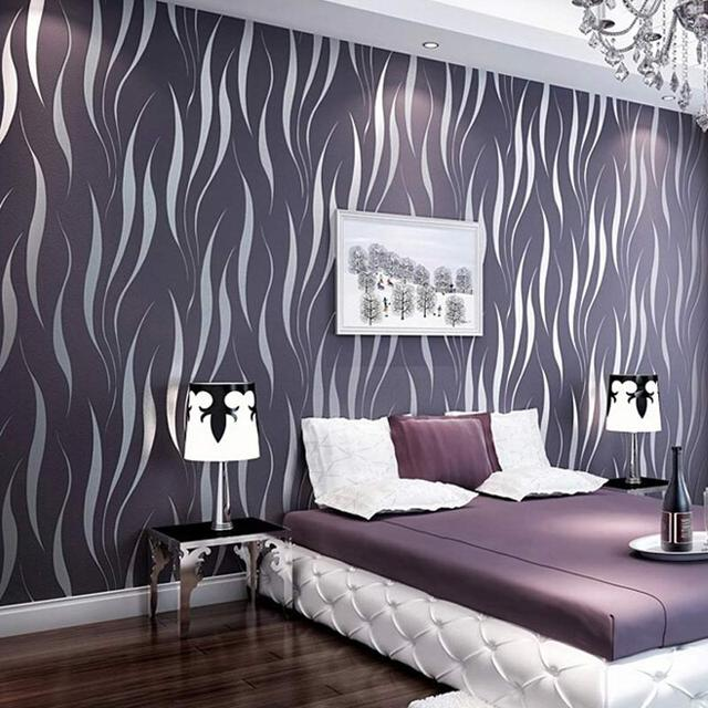 Buy modern luxury 3d wallpaper stripe - Ideas for covering wallpaper ...