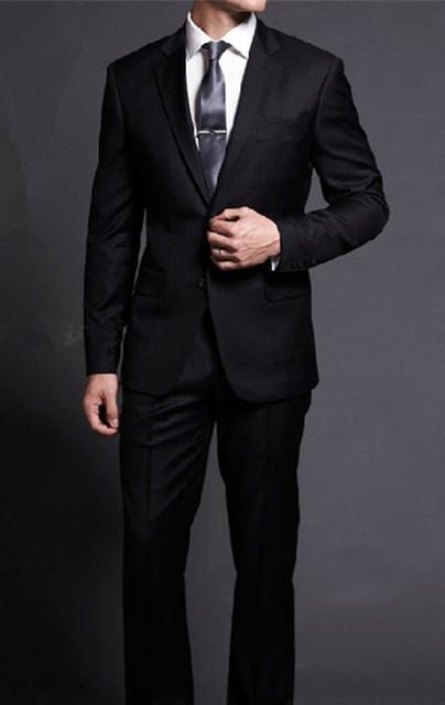 Hombres Slim fit trajes con pantalones de Negocio de la boda últimas bragas de la capa diseños 2017 Nueva llegada de La Manera negro Masculina Trajes de baño más del tamaño 5XL