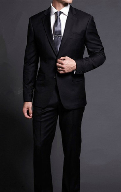 Men Slim fit suits with pants Business wedding latest coat pant designs 2017 New arrival Fashion black Male Suits plus size 5XL
