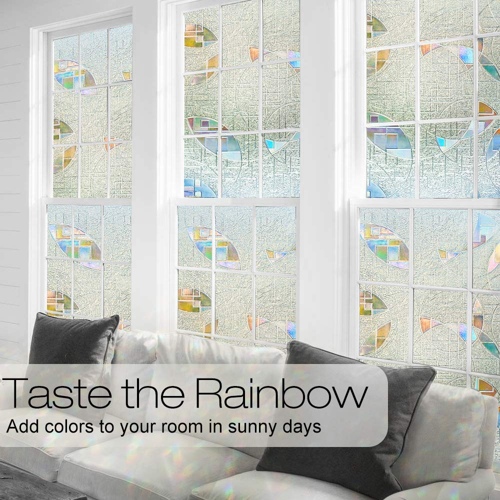 Funlife 3d Privacy Window Film No Glue Static Window Cling Glass Film Frosted Window Sticker Static Cling Vinyl Decorative Home Decor Back To Search Resultshome & Garden