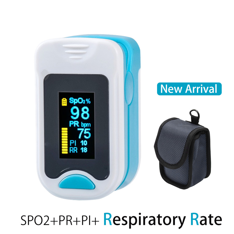 Fitfaith Pulse Oximeter Finger SPO2 PR PI RR Blood Oxygen Saturation With Respiratory rate RR M130A