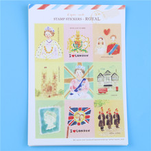 DIY Scrapbooking Cute Kawaii Scenery Stamp Stickers For Diary Notebook Photo Album Decoration Sticker Stationery Memo Pads(China)