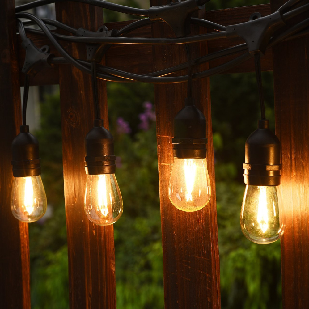Tanbaby waterproof commercial grade string lights outdoor 10m with tanbaby waterproof commercial grade string lights outdoor 10m with 10 leds 2w edison bulbs for garden party wedding pergola in lighting strings from lights workwithnaturefo