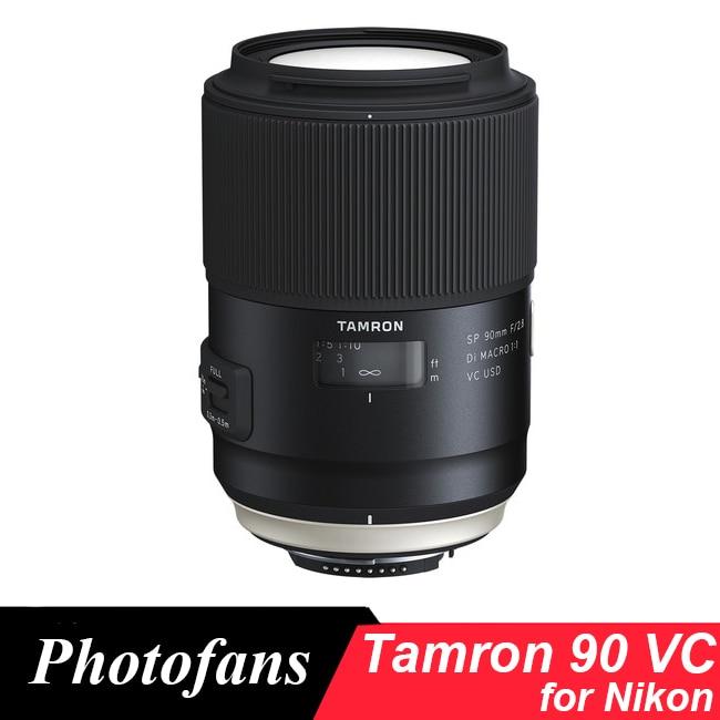 Tamron 90 mm Macro lente Tamron SP 90 f/2,8 Di Macro 1:1 VC USD Macro lente para Nikon D3400 D5600 D7500 D500 D750 D810 D850 D5