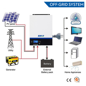 Image 2 - EASUN POWER onduleur 5000W 500V dc entrée PV 230V ac, 48V ac, 80a, MPPT, commande LCD, USB, Bluetooth