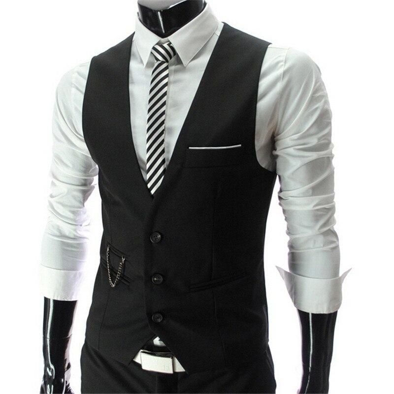 2016 nouvelle arrivée! Hommes gilet costume robe Slim gilets hommes équipée loisirs gilet Casual affaires veste Tops trois boutons