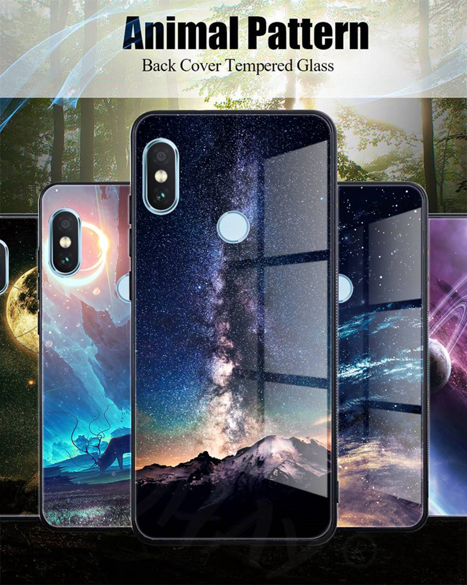 Phone Glass Case For Huawei Nova 3 2i Coque Silicone Luxury Case For Huawei P20 Pro Honor Play 7A 9 Mate 10 Lite P Smart Y6 2018 (2)