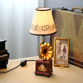 Children Room Retro Phonograph Table Lamp Led E14 Wood Desk Lamp 110V-220V Led Desk Lamp Child Switch Button Desk Led Lamp