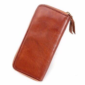 Men's Wallet Unique Special Wallet Genuine Leather Luxury Clutch Handy Bag Men's Clutch Wallets Carteira Masculina