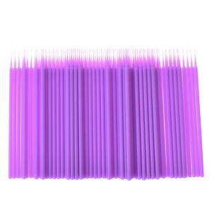 Image 3 - 100 sztuk/worek jednorazowe przedłużanie rzęs indywidualne mikro szczotki aplikatory szczoteczki do tuszu do rzęs do przedłużania rzęs narzędzia hurtownie