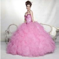 New 2014 Crystal Ruffles Ball Gowns Quinceanera Dresses With Short Sleeves Jacket Tulle QD029 Vestidos De