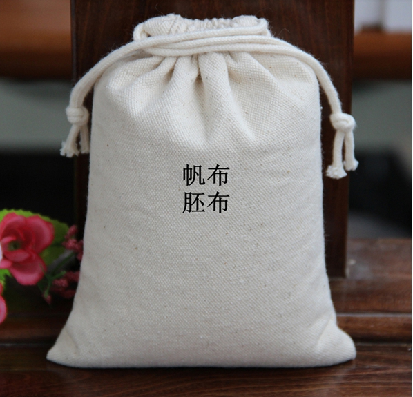 high quality canvas drawstring jewerly bags 100pcs 15 17cm and 200pcs 9 5 11 5cm for