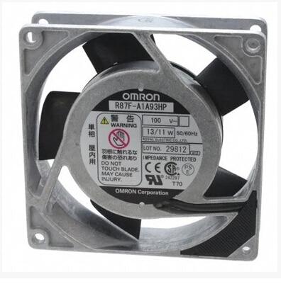The original OMRON R87F-A1A93HP 100V 13/11W 92*92*25MM single-phase 9 cm fan 92 92 38 100v 220v 5 3w af0938b00hl ac fan for wide voltage inverter fan