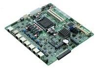 1 * COM, 1 * JVGA1 Промышленная материнская плата поддержка i3 i5/i7 процессоры материнские платы, 6 Gigabit LAN платы для маршрутизатора/межсетевой экран