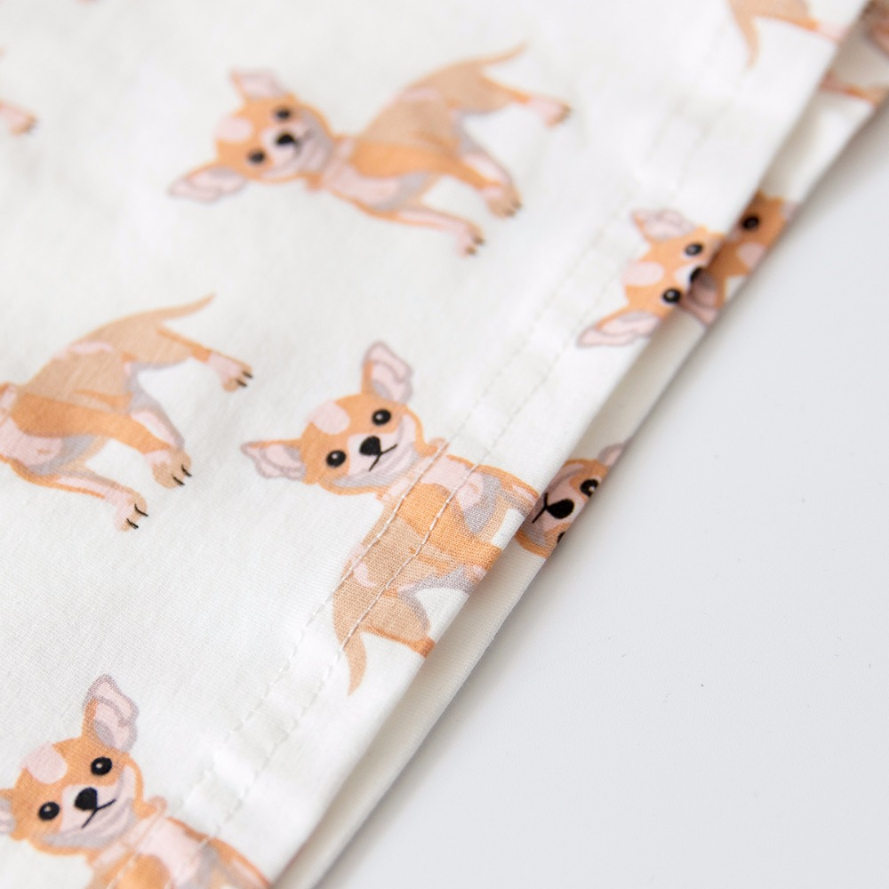 9b8a3fc1f08 Women Cute Chihuahua Dog Print Sets 2 Pieces Pajama Suits Crop Top + Shorts  Stretchy Loose Tops Plus Size Elastic Waist S78903-in Pajama Sets from  Underwear ...