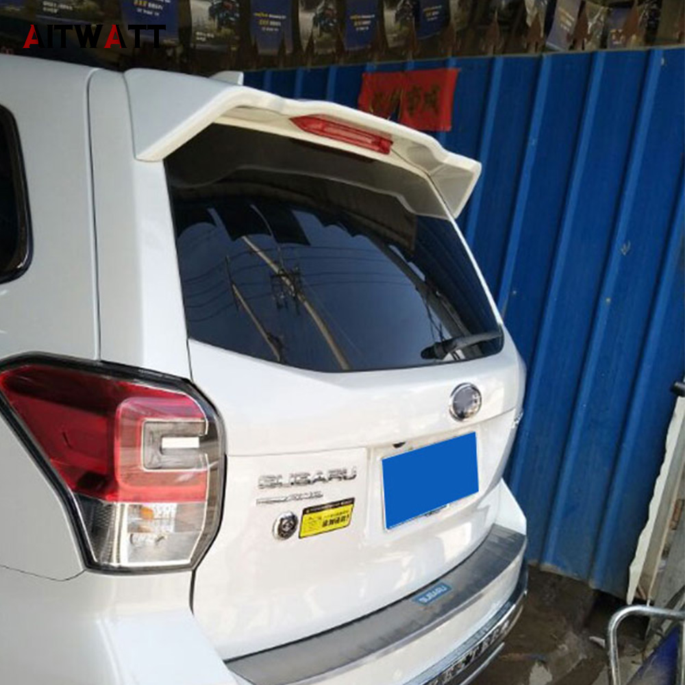 Spoiler For Subaru Forester 2013 2014 2015 2016 ABS Plastic Unpainted Primer Color Tail Trunk Wing Rear Roof Spoiler Car Styling for toyota corolla 2014 2015 2016 2017 abs plastic unpainted primer tail trunk lip wing rear spoiler decoration car accessories