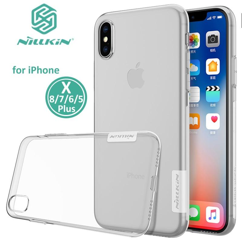 Cover case custodia Iphone 8 PLUS TPU ultra slim silicone nera