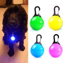 Светящиеся яркие светящиеся в темноте собака светодио дный яркое ожерелье с подвеской безопасности щенок кошка ночник мигает ошейник