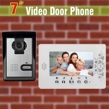 7 inch LCD Screen Video Door Phone Intercom System Aluminum Alloy Camera Video Doorbell Intercom Video Door bell 1V1