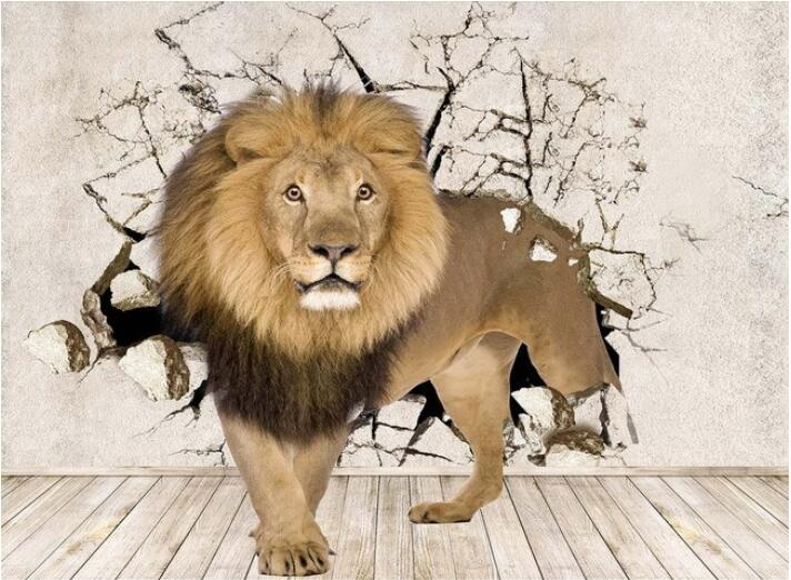 3d wallpaper custom mural non-woven wall stickers 3 d stereo space lion mural wall decoration photo 3d wall murals wall paper брюки baon baon ba007ewayls3