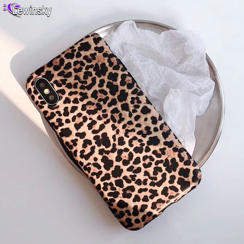 Crispyfis <font><b>Sexy</b></font> Leopard Prain TPU Silicone Case Cover Skin For iPhone 6 6s <font><b>7</b></font> plus 8 Plus Matte Soft Fashion Cases For X XR XS MAX image