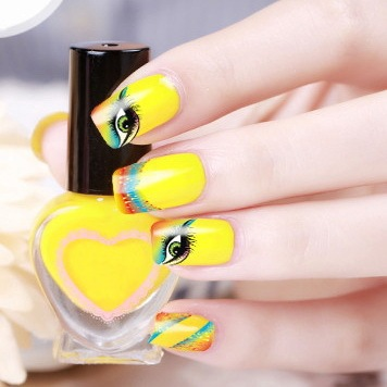 2017 Direct Selling Top Fashion Manicure 2 Sheets Watermark Nail Stickers Flowers Row Of Pens Manufacturers Xf1318