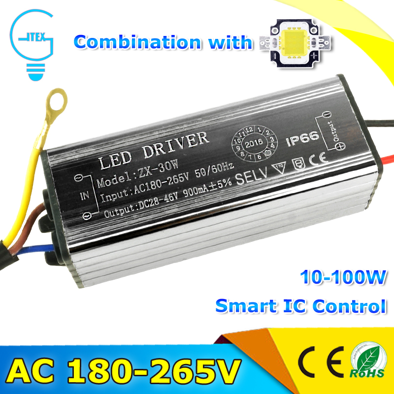 Waterproof LED Driver AC220V 10W 20W 30W 50W 70W Input AC180-265V LED Driver Adapter Transformer Power Supply IP66 For LED Flood kvp 24200 td 24v 200w triac dimmable constant voltage led driver ac90 130v ac170 265v input