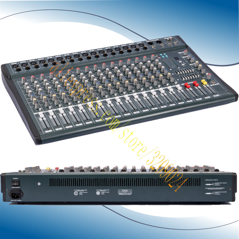 High Quality 16 Channel Audio Music USB Mixer Mixing Console Pro Digital Effect Processor Console De