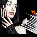 15 Brushes Manicure Nail Art Design Set UV Nail Gel Polish 3D Dotting Pens Painting Brush False Nail Tips Tools Nail Decorations