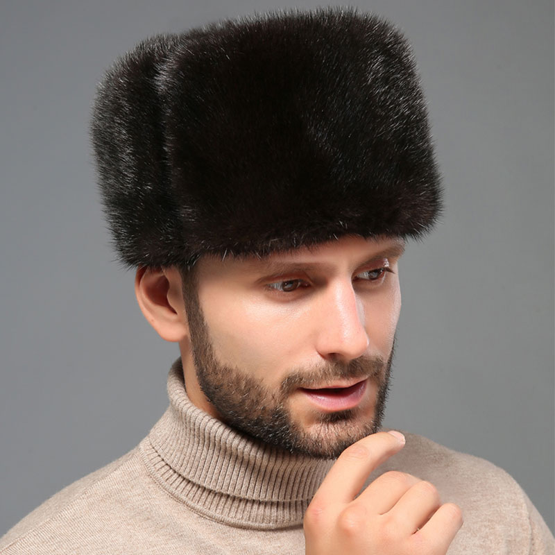 Detail Feedback Questions about NEW Natural Color Fur Hat Siberian Style  real fur Lei Feng Hat Russian Ushanka Thickening Warm Winter Hats For Men  Free ... 863f9f489e14