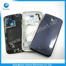 OEM Housing Cover For Samsung Galaxy Mega 5.8 I9152 Faceplate Middle Bezel Back Battery Cover Complete Housing Replacement Parts