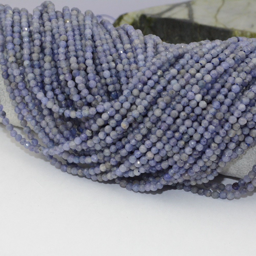 Natural Tanzanite Faceted Loose Round Beads 2.2mm / 3.5mm / 4mm